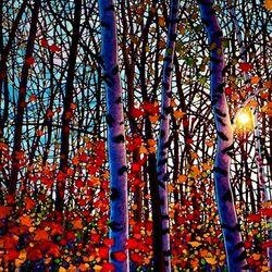 Пазл онлайн: Рубиновые листья