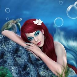 Пазл онлайн: Влюбленная русалка