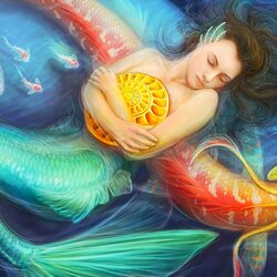 Пазл онлайн: Сны русалки