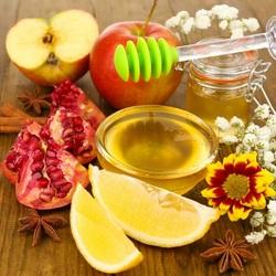 Пазл онлайн: Мед с фруктами