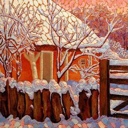 Пазл онлайн: Зимняя мозаика