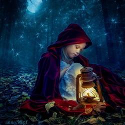 Пазл онлайн: Спящая Красная Шапочка