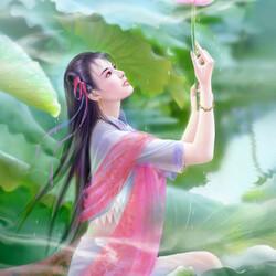 Пазл онлайн: Цветок лотоса