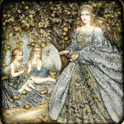 Пазл онлайн: В яблоневом саду