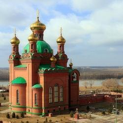 Пазл онлайн: Благовещенский Собор с видом на р. Иртыш
