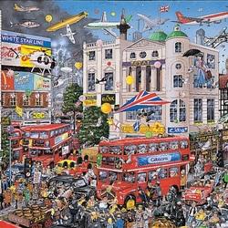 Пазл онлайн: Я люблю Лондон