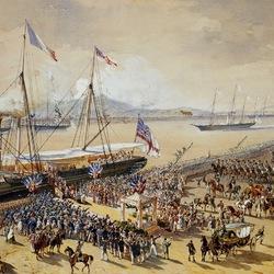 Пазл онлайн: Прибытие королевы Виктории  во Францию