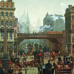 Пазл онлайн: Старый Лондон