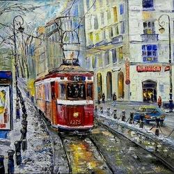 Пазл онлайн: Трамвайчик № 14