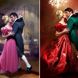 Пазл онлайн: Романтическое танго