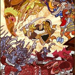Пазл онлайн: Битва Пяти Воинств