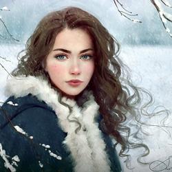 Пазл онлайн: Зима в пути