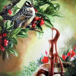 Пазл онлайн: Птичка у воды