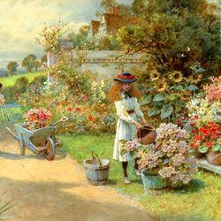 Пазл онлайн: Уход за цветами