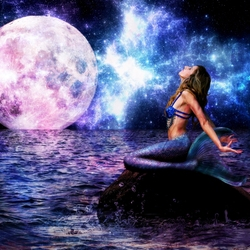 Пазл онлайн: Манящий свет луны