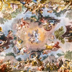 Пазл онлайн: Фреска Королевского дворца в Казерте