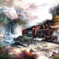 Пазл онлайн: Железная дорога
