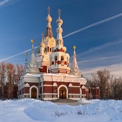 Пазл онлайн: Собор Николая Чудотворца в Павловске