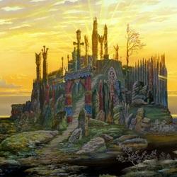 Пазл онлайн: Святилище у озера