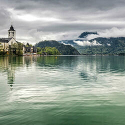 Пазл онлайн: Католическая церковь Св.Вольфганга. Австрия