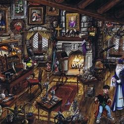 Пазл онлайн: Кабинет профессора Дамблдора