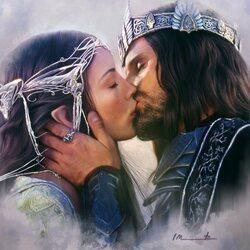 Пазл онлайн: Арвен и Арагорн