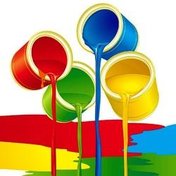 Пазл онлайн: Банки с краской