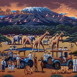 Пазл онлайн: Сафари у подножия Килиманджаро