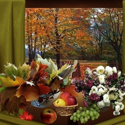 Пазл онлайн: Осенняя композиция