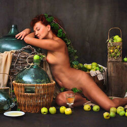 Пазл онлайн: Яблочное вино