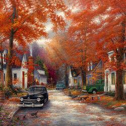 Пазл онлайн: Осенние воспоминания