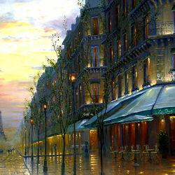 Пазл онлайн: Романтика парижских кафе