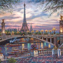 Пазл онлайн: Воспоминания о Париже