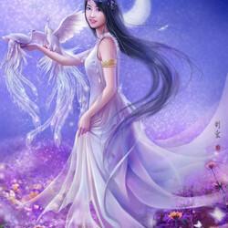 Пазл онлайн: Белый феникс