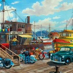 Пазл онлайн: В порту