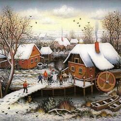 Пазл онлайн: Зима в Хорватии