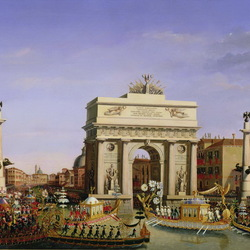 Пазл онлайн: Въезд Наполеона I в Венецию
