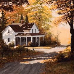 Пазл онлайн: Осенние тени