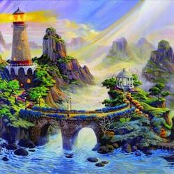 Пазл онлайн: Туманный маяк