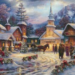 Пазл онлайн: Ночь под Рождество
