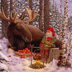 Пазл онлайн: Из жизни рождественских гномов