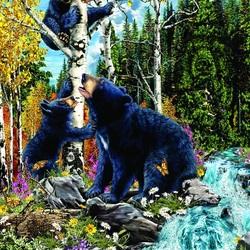 Пазл онлайн: 15 медведей