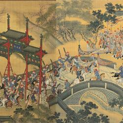 Пазл онлайн:  Картина - свиток. Возвращение Императора в столицу