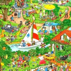 Пазл онлайн: Лето, лето