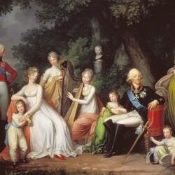 Пазл онлайн: Портрет Павла I с семьёй