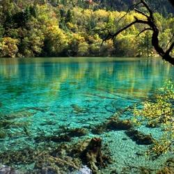 Пазл онлайн: Озеро 5 цветов в Цзючжайгоу
