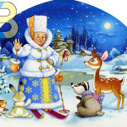 Пазл онлайн: Зимушка Зима