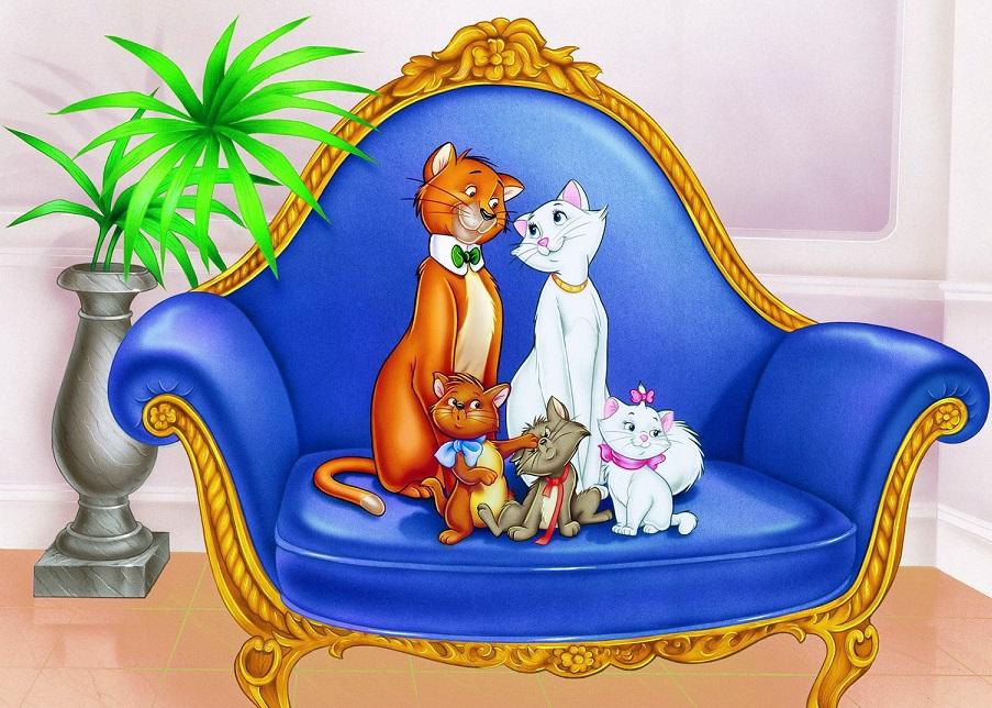 Картинки коты аристократы мультик
