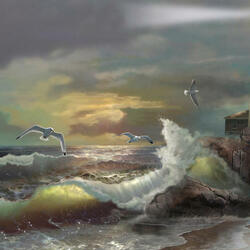 Пазл онлайн: Начало шторма
