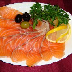 Пазл онлайн: Вкусная рыбка